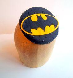 Batman Pillbox Cocktail Hat Superhero Line by ChefBizzaro on Etsy, $75.00