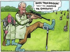 "10 October 2013 - Patterson - ""the badgers moved the goalposts."""