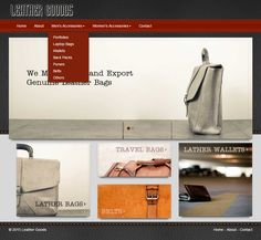 Website for Leather Manufacturing Company on Behance
