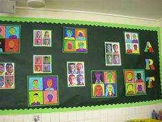 A brilliant Andy Warhol display - from Whitehill Primary School Primary Classroom Displays, School Displays, Art Classroom, Class Displays, Teaching Art, Primary Teaching, Teaching Ideas, Superhero Pop Art, Pop Art For Kids