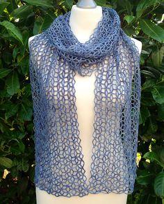 crochet lace scarf pattern
