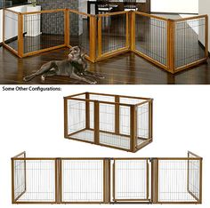 Convertible Elite Free Standing Pet Gate / Exercise Pen, 4 Panel