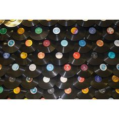 Records Wall Mural...only the coolest thing ever... well if it was real records then it would be cooler!