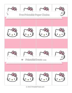 Free Pastel Light Pink  Hello Kitty Paper Chains