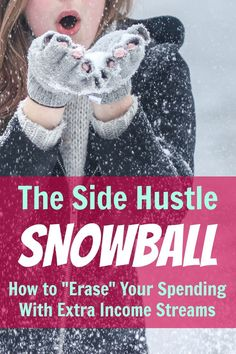 """Real-life examples of ways to make money outside of your day job to cover your bills, one step at a time. The side hustle snowball: how to """"erase"""" your spending with extra income streams, via Work From Home Jobs, Make Money From Home, Way To Make Money, Make Money Online, Earn More Money, Earning Money, Online Earning, Money Saving Tips, Money Tips"""