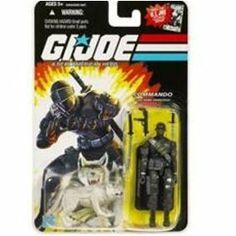 Snake Eyes (v2) & Timber - GI Joe 25th Anniversary Action Figure (Comic Logo) by HASBRO. $27.92. Comic Book Logo Card. Includes Weapons and Display Stand. Very hard to Find!. Serving in the Long Range Recon Patrols in Southeast Asia, SNAKE EYES left the service to study mystic martial arts with the same Ninja family that produced STORM SHADOW. SNAKE EYES was living an ascetic existence alone in the High Sierras with a pet wolf named Timber when he was recruited for the GI JO...