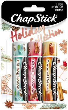 Chapstick Chapstick* Lip Balm Cinnamon+caramel Creme+cocoa Holiday Collection New Holiday/christmas Limited Edition Chapstick Lip Balm, Baby Lips, Cosmetic Storage, Lip Care, Face Care, Lip Moisturizer, Makeup Organization, Lip Colors, The Balm