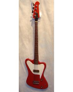 Gibson non reverse Thunderbird II bass, 1966 model finished in Cardinal Red.