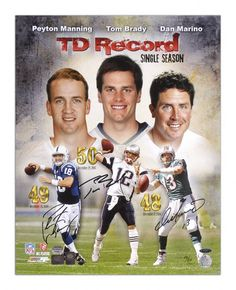 Tom Brady, Peyton Manning and Dan Marino
