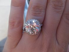by SB621 on Pricescope | Victor Canera 'Emily' Halo engagement ring.