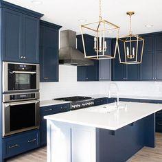 navy kitchen