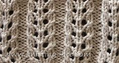Abbreviations:k= knit p= purl yf = yarn forward k2tog = knit two stitches together sl = slip psso = pass the slipped stitch over Multiples o...