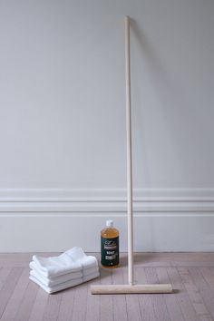 """Cuban Mop supplies - I went with """"smoke"""" because it was a bit warmer than Rubio's """"white"""" or """"cotton,"""" and I wanted floors that were only slightly whiter than freshly sanded floors, with no gray tint. The older floors, which had aged to a very orange patina, look particularly warm and beautiful with the Rubio """"smoke"""" finish. But the one new floor I had installed looks lovely too. All the floors are white oak."""