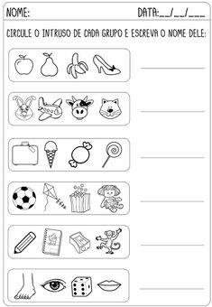 Criar Recriar Ensinar Portuguese Lessons, Reading Comprehension Worksheets, Sorting Activities, Teaching, Education, Apraxia, Professor, Design Ideas, Living Room