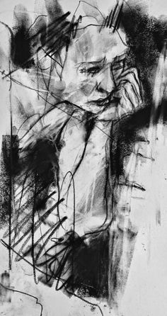 Por amor al arte: Guy Denning Figure Painting, Figure Drawing, Abstract Charcoal Art, Art Sketches, Art Drawings, Abstract Painters, Portrait Art, Portraits, Life Drawing