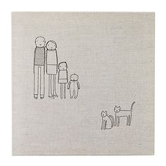 PERSONALIZED FAMILY WALL ART | Custom Artwork, Modern Portraiture, Embroidery | UncommonGoods