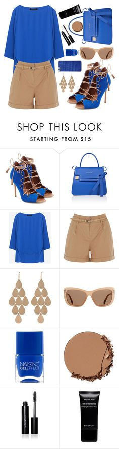 """""""Beautiful blue"""" by sanela-enter ❤ liked on Polyvore featuring Malone Souliers, ESCADA, Oasis, Irene Neuwirth, Tom Ford, Nails Inc., Urban Decay, Bobbi Brown Cosmetics, Givenchy and Jamie Clawson"""