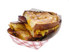 Kick your grilled cheese up to the big leagues with fresh sourdough bread, maple-glazed bacon and a flavorful filling.