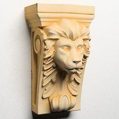 3D Model Lion Head Corbel - 3D Model