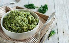 Πράσινο ριζότο με σπανάκι Keto Smoothie Recipes, Low Carb Smoothies, Keto Recipes, Avocado, Carb Alternatives, Natural Yogurt, Dried Beans, Nutrition, Side Dishes