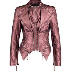 Metallic Plum Motorbike Jacket