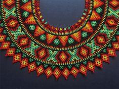Indigenas,EmberaChami - Fotos y videos de Instagram Diy Necklace, Collar Necklace, Hair Decorations, Beaded Collar, Beaded Jewelry Patterns, Diy Jewelry Making, Hama Beads, Boho Jewelry, Beaded Earrings