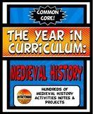 Medieval History Curriculum Year Activity Mega Bundle Comm