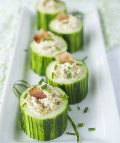 Cucumber cups, easy finger foods. (savoury finger food entertaining)