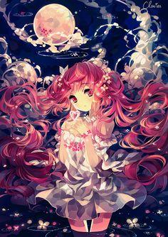 """""""Sakura Miku"""" Hatsune Miku fanart by Clavies"""