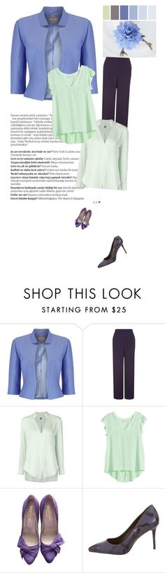 """для офиса"" by n-rak on Polyvore featuring мода, Balmain, Phase Eight, Jacques Vert, Halston Heritage, Valentino и B Brian Atwood"
