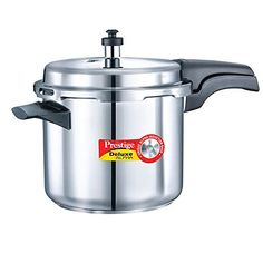 Prestige Alpha PRSDA-3.5L Induction Base Stainless Steel Deluxe Pressure Cooker, 3.5 L/Small, Silver *** Trust me, this is great! Click the image. : Pressure Cookers