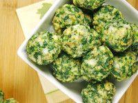Recetas de verduras: Bolitas de espinacas