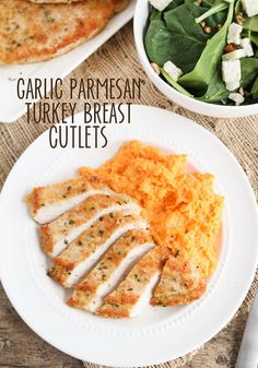 Garlic Parmesan Turkey Breast Cutlets - Somewhat Simple.com @honestturkey #ad #700reasons