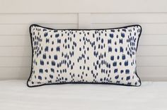 """Brunschwig and Fils Les Touches blue - would love 2 of these 13x23"""" lumbar pillows! I have inserts :)"""