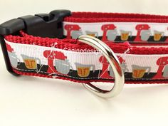 Dog Collar Baking 1 inch wide adjustable quick by caninedesign
