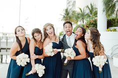 Great photo opportunity, groom and bridesmaids