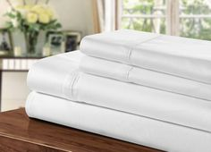 Egyptian Cotton Sheet Set Another great find on White Refined Sheet Set by Chic Home Design Cotton Bedding Sets, 100 Cotton Sheets, Cotton Sheet Sets, Linen Bedding, Bed Linens, Bed Sheets Online, Cheap Bed Sheets, Bedding Sets Online, Egyptian Cotton Sheets