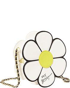 Super cute Betsey Johnson flower handbag.