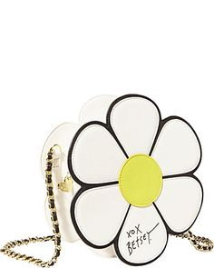 Super cute Betsey Johnson flower handbag.