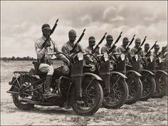 1918 Almost half of all Harley motorcycles produced are sold for use by the U.S. military in World War I. After Armistice is signed, Corporal Roy Holtz becomes the first American soldier to enter Germany. He does so on a Harley-Davidson motorcycle.