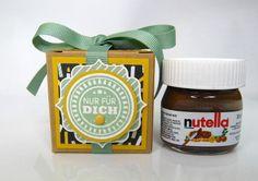 Schokolade & Süßigkeiten - Mini-Nutella Nur für dich Geburtstag - ein Designerstück von Stempelitis bei DaWanda