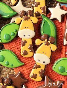 How to Make Decorated Giraffe Sugar Cookies | LilaLoa: How to Make Decorated Giraffe Sugar Cookies