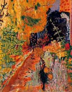 ❀ Blooming Brushwork ❀ garden and still life flower paintings - Pierre Bonnard, The Garden, 1936