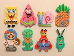 SpongeBob's house Perler bead magnet – Famous Last Words Quilting Beads Patterns Perler Bead Designs, Easy Perler Bead Patterns, Melty Bead Patterns, Hama Beads Design, Perler Bead Templates, Diy Perler Beads, Perler Bead Art, Beading Patterns, Melty Bead Designs