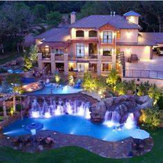 best Ideas for house goals mansions luxury pools Dream Home Design, My Dream Home, House Design, Dream Life, Huge Houses, Pool Houses, Crazy Houses, Amazing Houses, Big Houses With Pools