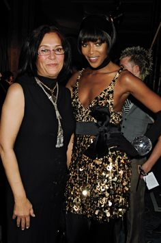 Naomi Campbell with Designer Azza Fahmy wearing the Dome Bracelet  backstage at the Azza Fahmy for Julien Mcdonald  London Fashion Week 2008