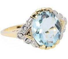 Reality of Illusion: Vintage Aquamarine Ring - The Three Graces