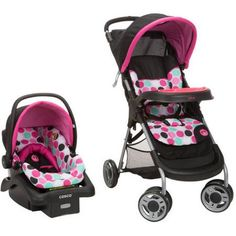 Add some magic to your walks with the Disney Baby Lift and Stroll Plus Travel System. The stroller lifts to fold with just one hand and a quick pull upward. It's lightweight and compact when folded, making it easy to store or take along for the ride. Featuring QuickClick, the infant seat attaches to the stroller in one quick step for a complete travel system. The car seat has Side Impact Protection and four harness heights for better fit and a safer ride as baby grows. Parents will also appr...