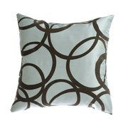 Softline Home Fashions Mia 18'' Pillow in Blue Chocolate