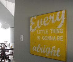 Love this, have one of her other signs in our kitchen -- beautiful work.  Hmmm...what color would I want this in?